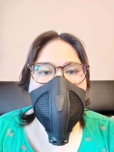 Tina Y. with Stealth Mask
