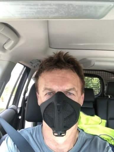 Maldwyn W. with Stealth Mask